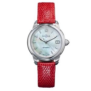 DAVOSA Ladies Delight 女錶系列/白/紅色皮帶