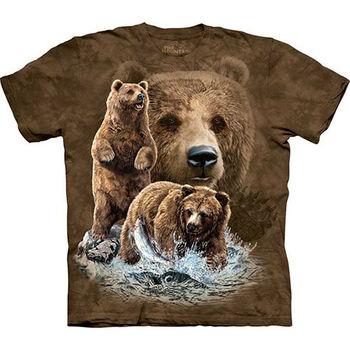 【摩達客】預購-The Mountain 尋十棕熊T恤(女/童)