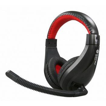 【KINYO】黑火立體聲耳機麥克風(EM-3631)