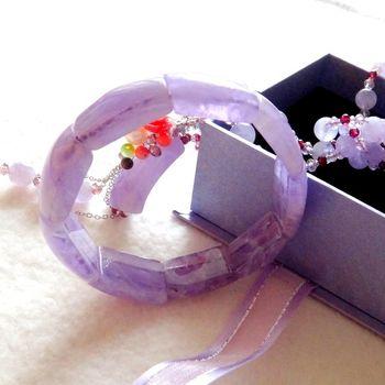 【金楊】紫醉晶迷典藏紫玉髓手排(送紫水晶項鍊)