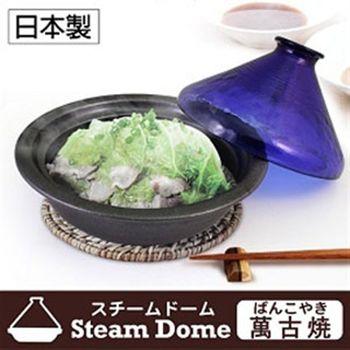 《逸品軒》日本製石塚玻璃萬古燒塔吉鍋L 21.5cm-BL琉璃藍