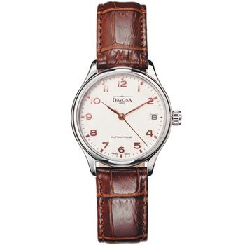 DAVOSA Classic 機械女錶/象牙白/皮帶-24