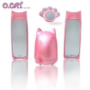 【O.CAT】粉紅波斯貓咪無線2.1 聲道多媒體喇叭