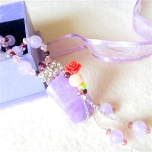 【金楊】紫醉晶迷典藏頂級紫玉髓項鍊(項鍊)