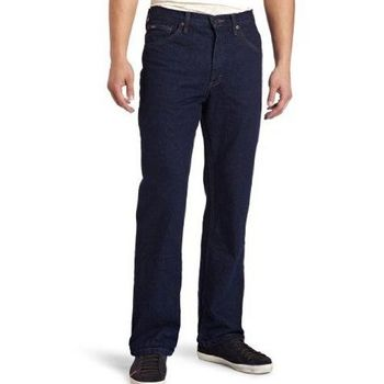 Lee 2013男褐石洗設計直腿深藍牛仔褲