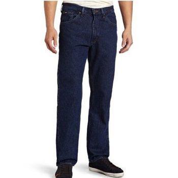 Lee 2013男正規傳統設計直腿預洗黑石牛仔褲