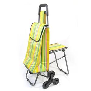 【wepon】多功能六輪附椅購物車加贈替換袋