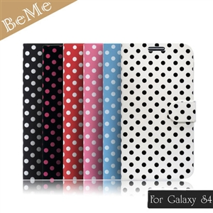BeMe 三星Galaxy S4繽紛點點側翻式筆記本保護殼
