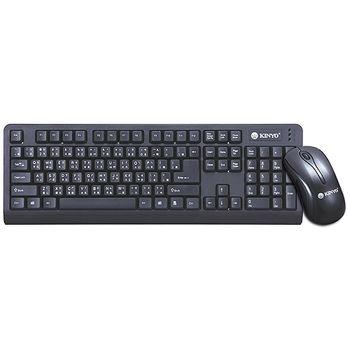 【KINYO】低噪音標準PS2鍵盤+USB滑鼠組(KBM-360)