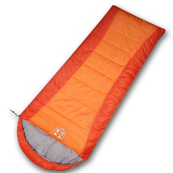 PUSH! 登山戶外用品全開式可拼接帶帽四季睡袋