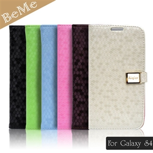 BeMe 三星Galaxy S4晶鑽質感側翻式筆記本保護殼