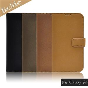 BeMe 三星Galaxy S4紳士款仿皮革側翻式保護殼