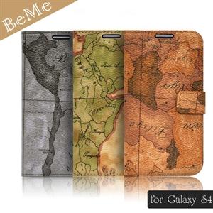 BeMe 三星 Galaxy S4航海地圖側翻式筆記本保護殼