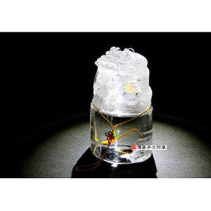 【傳家手工印章】全美天然水晶龍吐珠公司印章半手工噴砂- 九分單章