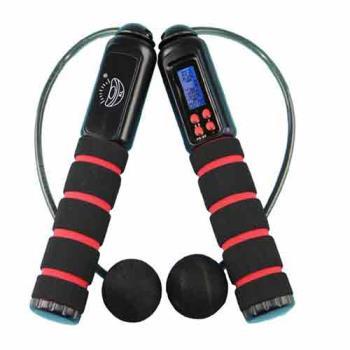 PUSH!休閒運動用品 有氧有線無線兩用跳繩 加重設計卡路里跳繩