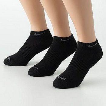 Nike 男舒適DRI-FIT低切黑色運動襪3件組