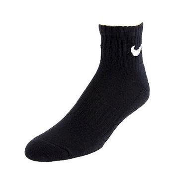 Nike 男舒適襯墊1/4高黑色運動襪6件組