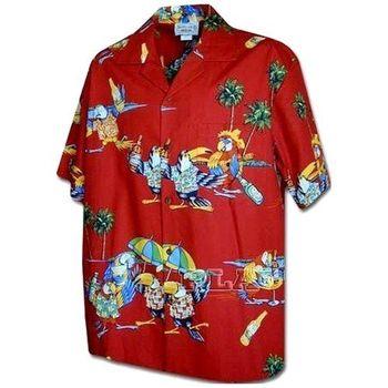 【夏威夷襯衫】2013瑪格麗特鸚鵡頭紅色夏威夷襯衫