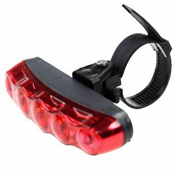 PUSH!自行車用品  4模式5LED自行車尾燈 警示燈 閃光片
