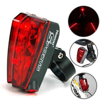 PUSH!自行車用品 鐳射自行車警示燈 尾燈 閃光片