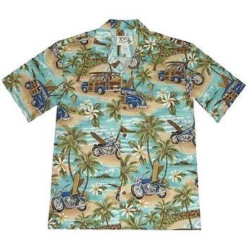 【夏威夷襯衫】2013海灘衝浪綠色夏威夷襯衫
