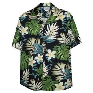 【夏威夷襯衫】2013竹葉白色雞蛋花夏威夷襯衫