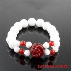 【石頭記】典雅玫瑰10mm硨磲手鍊