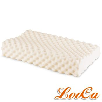 【LooCa】天然乳膠舒眠特大枕-按摩工學型(一入)