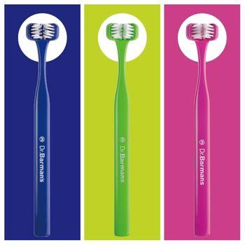 Superbrush三面式牙刷-甜蜜家庭組3入