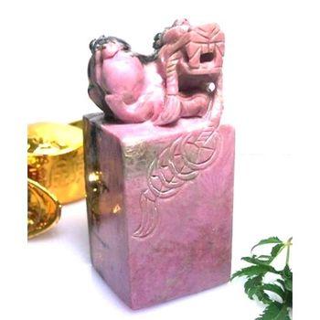 【杉梵】玫瑰石貔貅開運寶璽