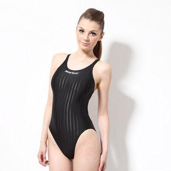 【≡MARIUM≡】大女競賽型泳裝─黑(MAR-8003W)低叉