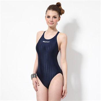 【≡MARIUM≡】大女競賽型泳裝─深藍(MAR-8003W)低叉
