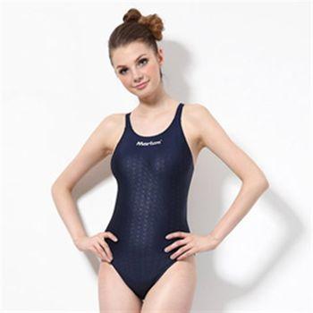 【≡MARIUM≡】大女競賽型泳裝─深藍(MAR-8002W)中叉