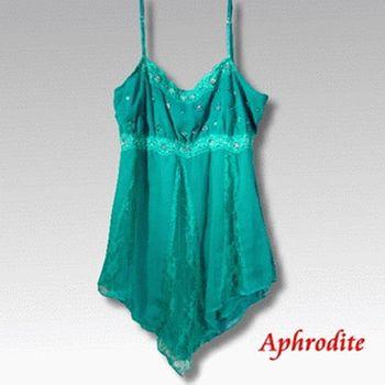 【Aphrodite/蘿黛蒂】亮片雪紡蕾絲上衣(土耳其玉籃)