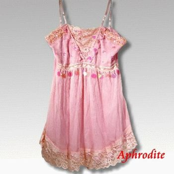 【Aphrodite/蘿黛蒂】亮片雪紡蕾絲上衣(淡粉紅)