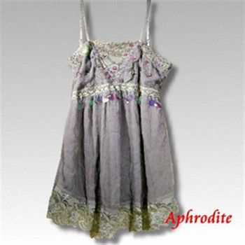 【Aphrodite/蘿黛蒂】亮片雪紡蕾絲上衣(薰衣草)網