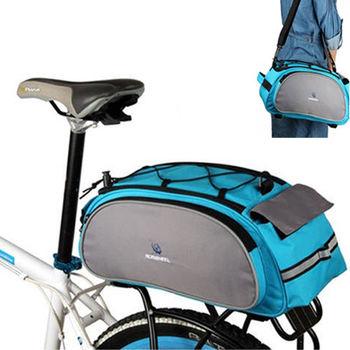 PUSH!自行車用品 自行車馬鞍袋 後貨袋 可背可提式快拆後座袋