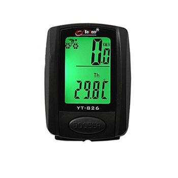 PUSH!自行車用品 防水背光卡路里溫度自行車碼表