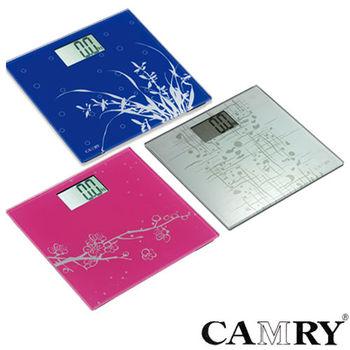 《CAMRY》優雅型玻璃健康電子體重計 EB-9323