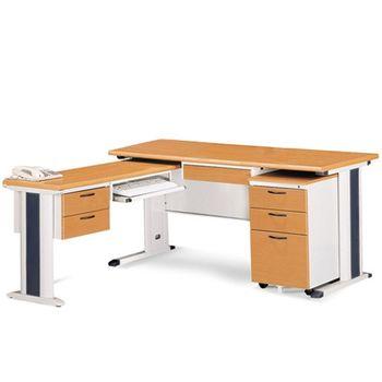 【時尚屋】SKH150木紋L型辦公桌櫃組258-12