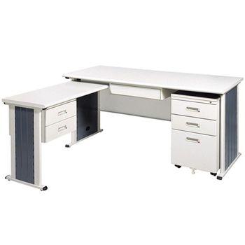 【時尚屋】YS150淺灰色L型辦公桌櫃組248-1