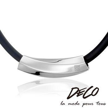 DECO X MASSA-G 費洛蒙之鍊-銀 鋼墬搭配鍺鈦項鍊