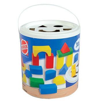 【德國HEROS】彩色積木對對桶/30pcs