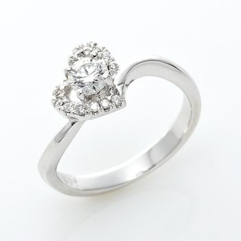 Amor精品-傾心愛戀八心八箭晶鑽戒指