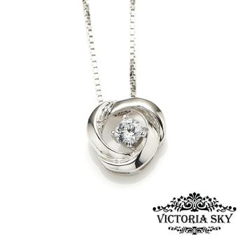 【Victoria sky】絢戀玫瑰_925純銀項鍊