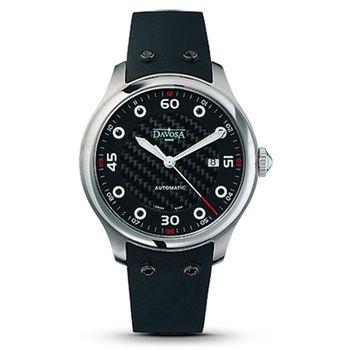 DAVOSA XM8 碳纖維時尚機械腕錶-黑/42mm