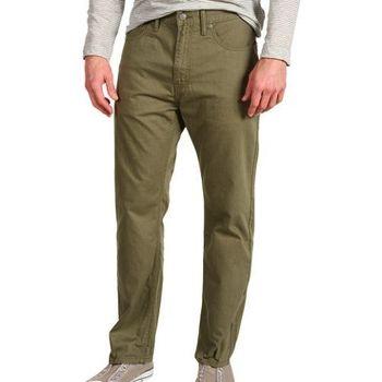 【Levi's】505經典苔蘚綠直筒斜紋褲