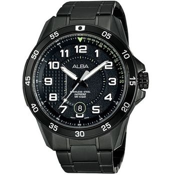 ALBA 競速方程式時尚腕錶-IP黑 VJ42-X075SD