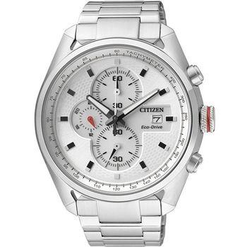 CITIZEN 先鋒部隊計時腕錶-銀 CA0360-58A