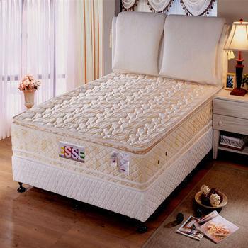 【ESSE御璽名床】四線乳膠獨立筒床墊6x6.2尺(加大尺寸)
